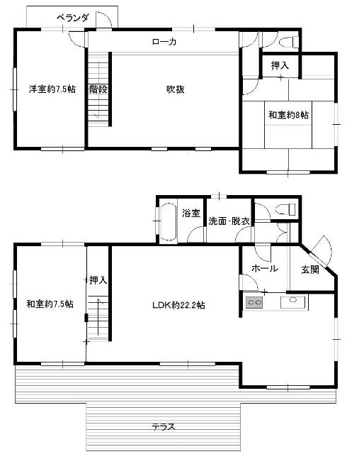 【旧軽井沢中古戸建】吹抜が印象的な緑豊かな別荘