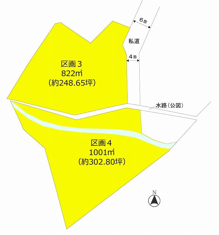 【南軽井沢2区画土地】小川が流れる自然豊かな土地