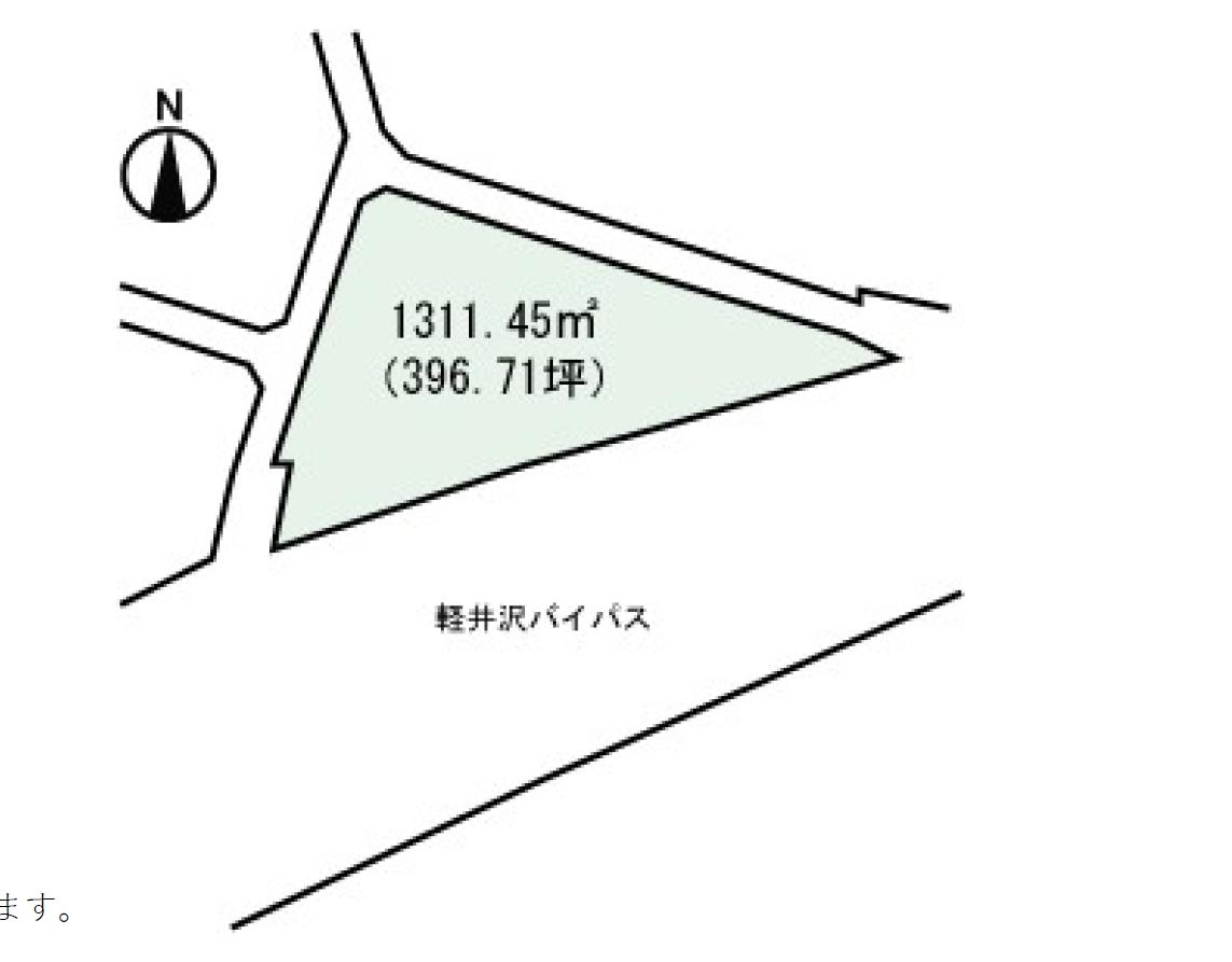 【長倉土地】軽井沢バイパス沿いで利便性・視認性良好な土地