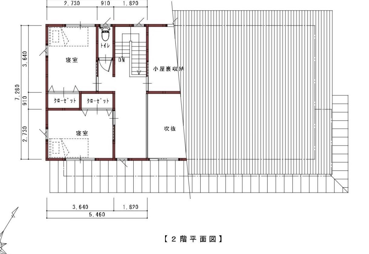 【戸建て__借宿】浅間山を望む 美しい片流れ屋根の家